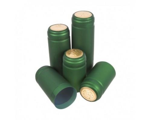 Термоколпачок для винных бутылок. Зеленый, 100 шт.