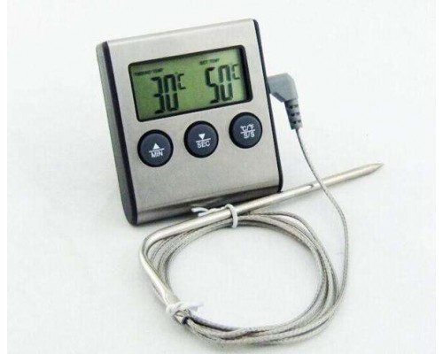 .Цифровой термометр с выносным датчиком и звуковым сигналом.